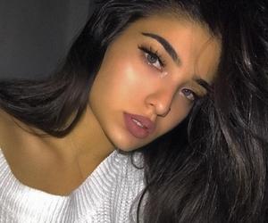 blue eyes, long hair, and instagram baddie image