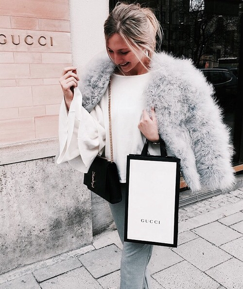 fur, shopping, and blogger image