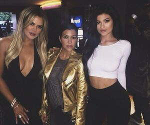 kylie jenner, khloe kardashian, and kourtney kardashian image