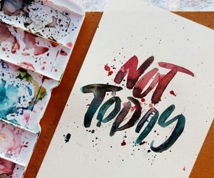 calligraphy, fanart, and watercolor image