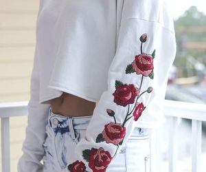 fashion, rose, and outfit image