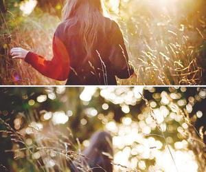 bokeh, sunshine, and girl image
