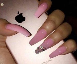 acrylic, bomb nails, and nails image