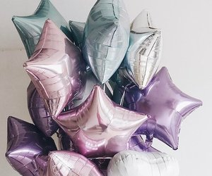 balloons, party, and stars image