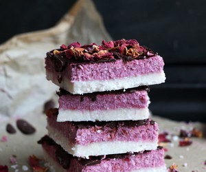 bars, lavender, and raspberry image