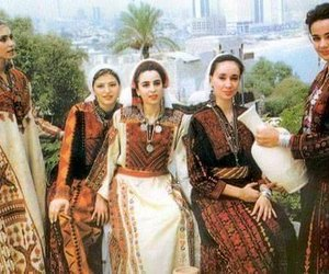 classic, Palestinian, and dress image