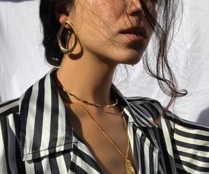 fashion, earrings, and girl image