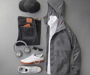 accessories, grey, and men image