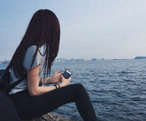 girl, sea, and tumblr image
