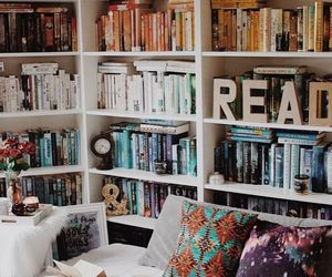 book, library, and reading image