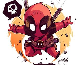 deadpool, Marvel, and chibi image