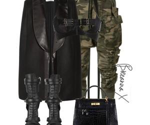 black, boots, and hermes bag image