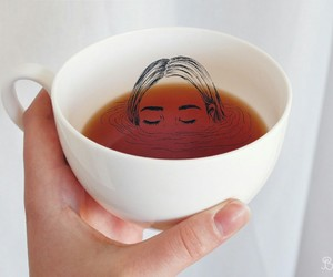 tea, art, and cup image
