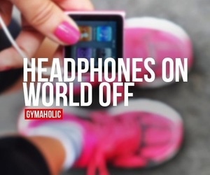 fitness, gym, and music image