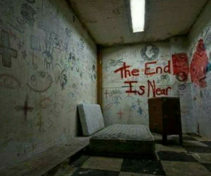 end, room, and abandoned image