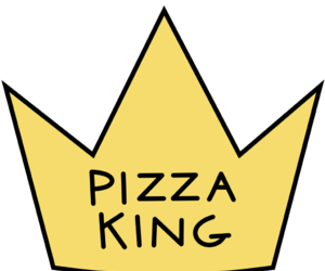 pizza, king, and crown image