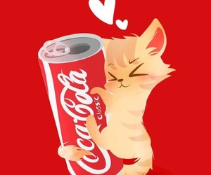 cat, wallpaper, and coca image