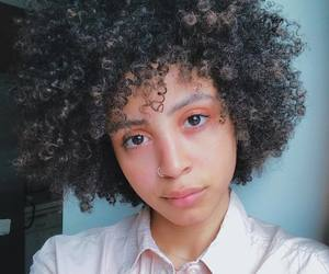curly hair, natural hair, and frizzy hair image