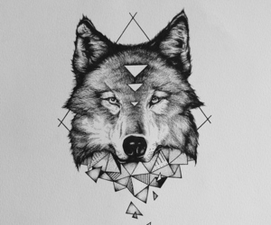 wolf, tattoo, and tumblr image