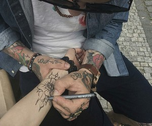 aesthetic, grunge, and tattoo image