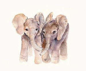 animal, elephant, and art image