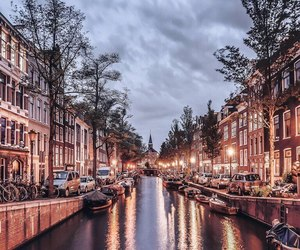 amsterdam, city, and beautiful image