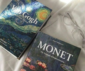 aesthetic, book, and monet image
