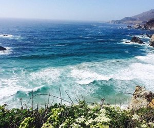 beach, california, and big sur image