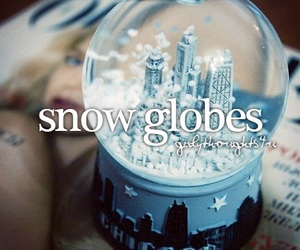 snow globe and girly thoughts image