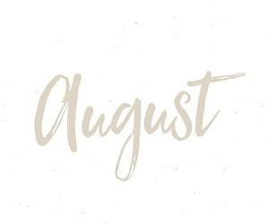 audrey, August, and font image