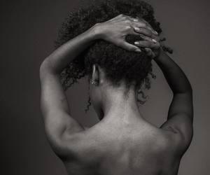 curly hair, natural hair, and texture image