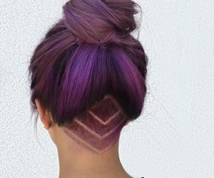 hair, purple, and beauty image