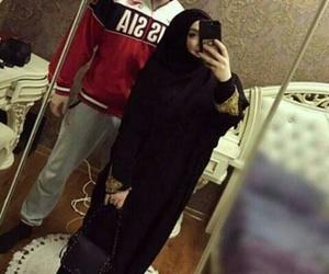 couple, hijab, and islam image