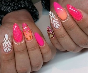 Best, nail art, and pink image
