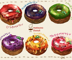 anime, art, and donuts image