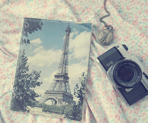 eiffel tower, neckless, and paris image