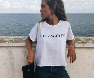 music, t-shirt, and outfit image