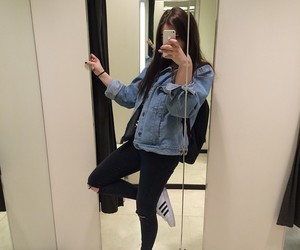 girl, grunge, and adidas image