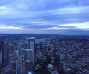 seattle, skyline, and skyscrapers image