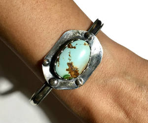 etsy, polychromatic, and turquoise cuff image