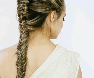 braid, hair, and wonder woman image