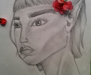 art, flowers, and mydrawing image