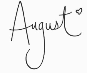 August, new, and heart image