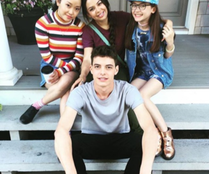 lara jean, lana condor, and josh image