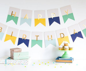 banners, birthday girl, and etsy image