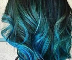 blue hair, hair, and ombre image