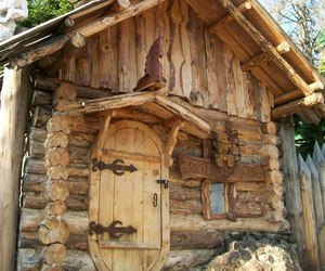 cabin, russia, and wooden house image