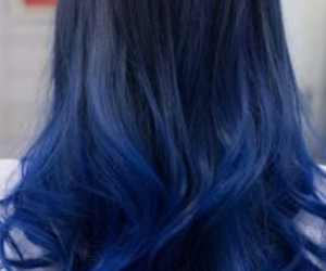 blue hair and ombre image
