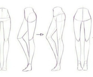 legs, draw, and art image