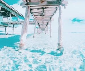 bridge, ocean, and summer image